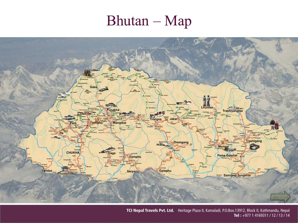 Bhutan – Map
