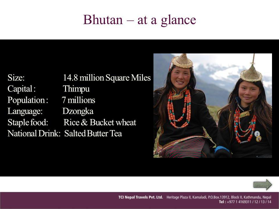 Bhutan – at a glance