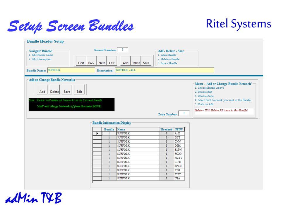 Setup Screen Bundles
