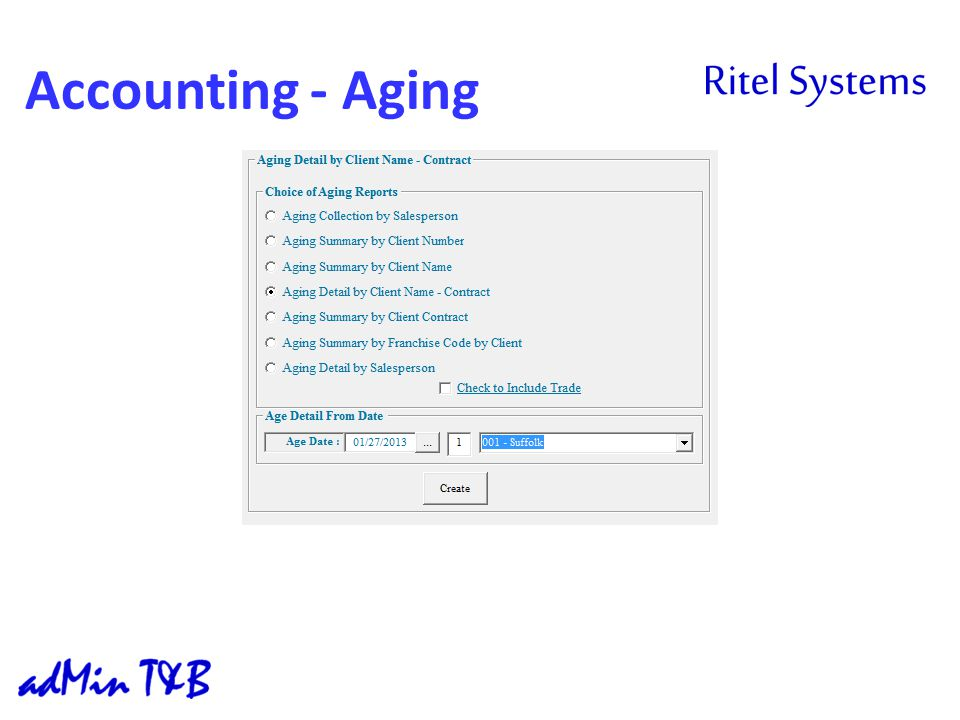 Accounting - Aging