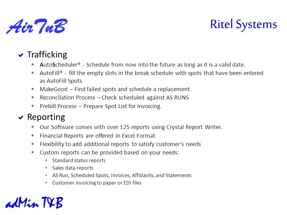 Trafficking AutoScheduler® - Schedule from now into the future as long as it is a valid date.