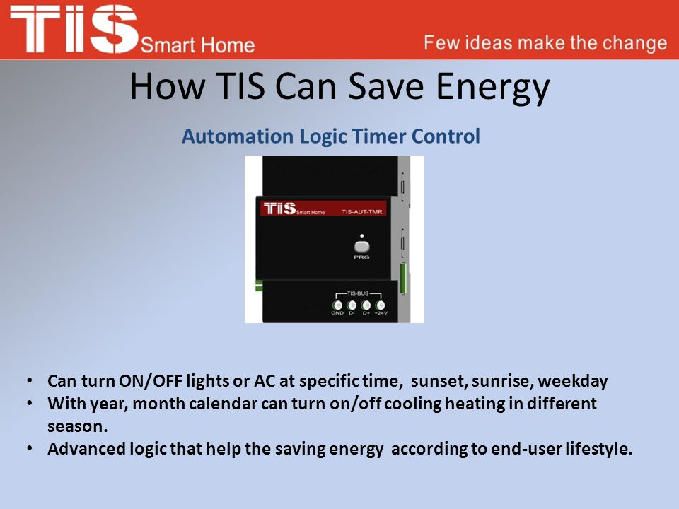 How TIS Can Save Energy Ultrasonic Motion Sensor Used in offices and big halls.