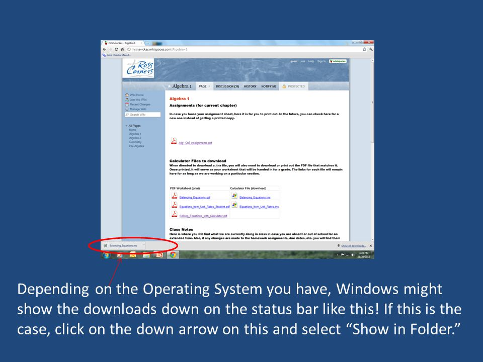 If you clicked the Show In Folder, or double-clicked on the Downloads file folder on the 2 nd slide (depending on which way your system handles the downloads) you will see the.tns file and you can then drag it to a folder on the left side of the screen.