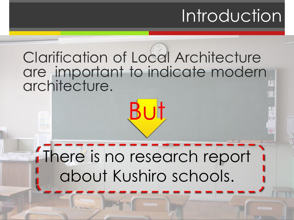 Introduction Clarification of Local Architecture are important to indicate modern architecture.