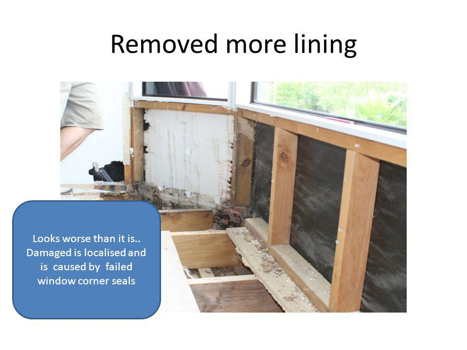 Yuk Boundary Joist destroyed. BUT it doesnt take long to cut it out with out damaging the exterior