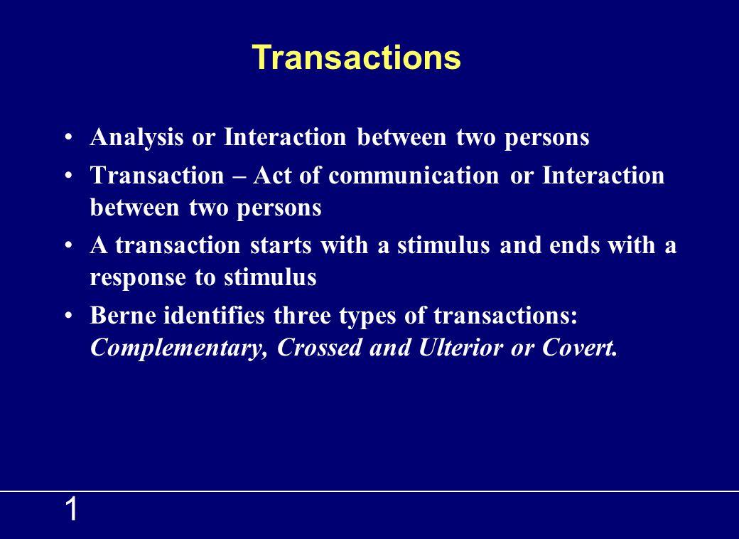 1 Regulates Nurtures Task Creativity Reacting Adjusting P A C TRANSACTIONAL ANALYSIS Ego states