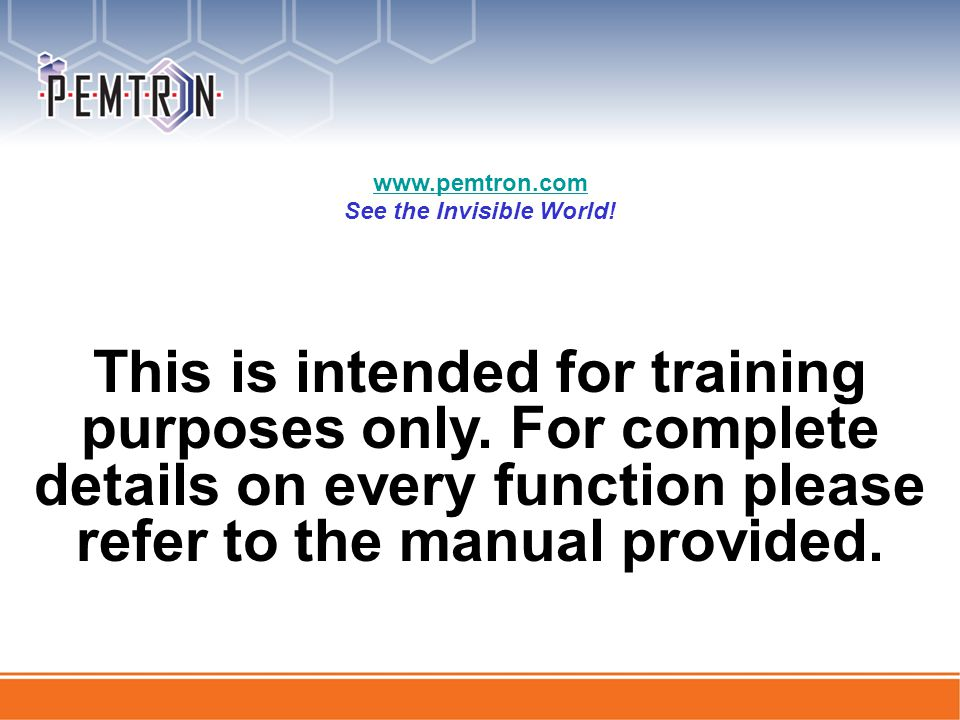 This is intended for training purposes only.