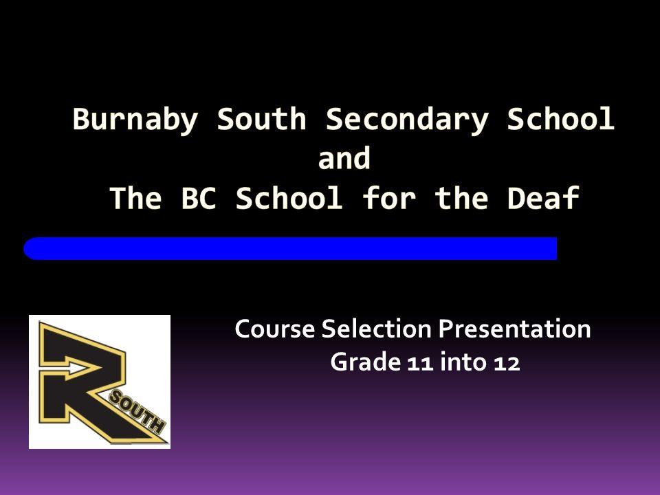Course Selection Presentation Grade 11 into 12
