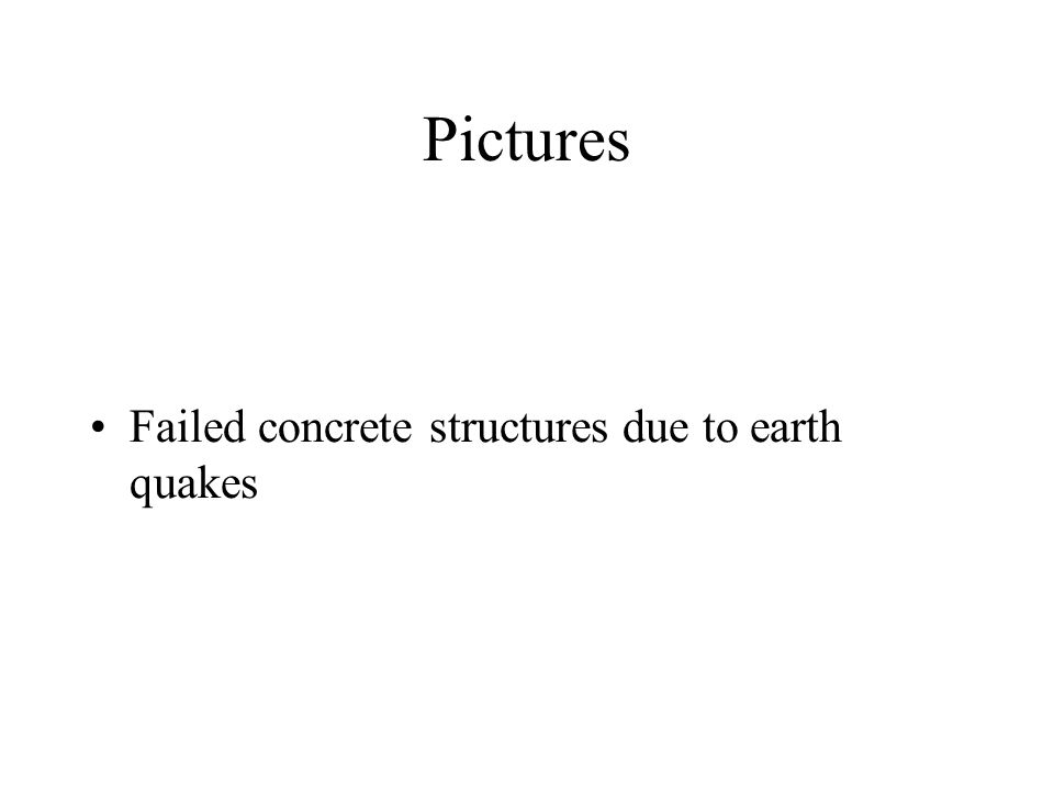 Pictures Failed concrete structures due to earth quakes