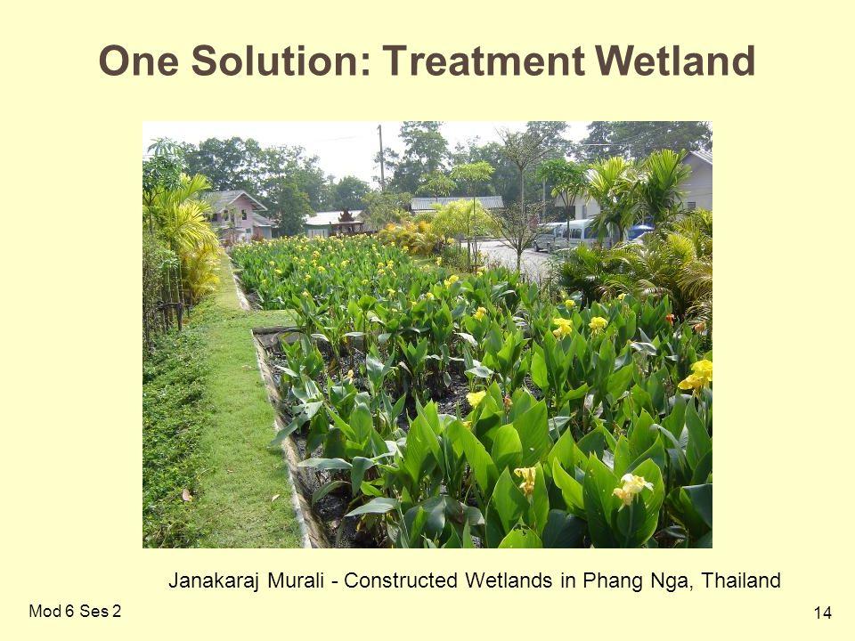 14 Mod 6 Ses 2 One Solution: Treatment Wetland Janakaraj Murali - Constructed Wetlands in Phang Nga, Thailand