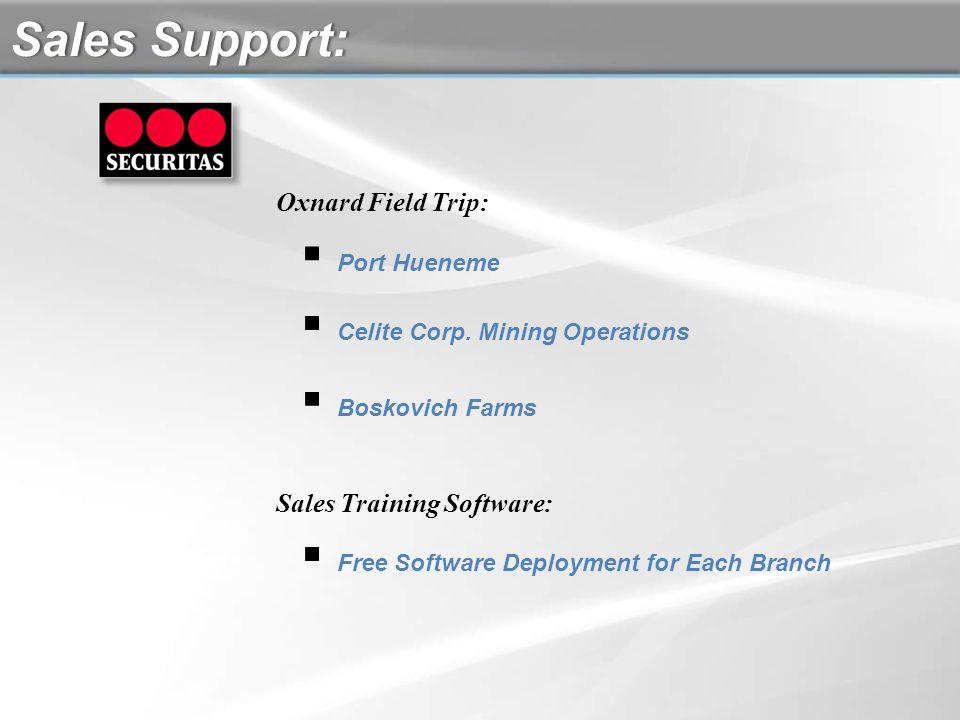Port Hueneme Celite Corp. Mining Operations Boskovich Farms Oxnard Field Trip: Sales Support:Sales Support: Sales Training Software: Free Software Dep