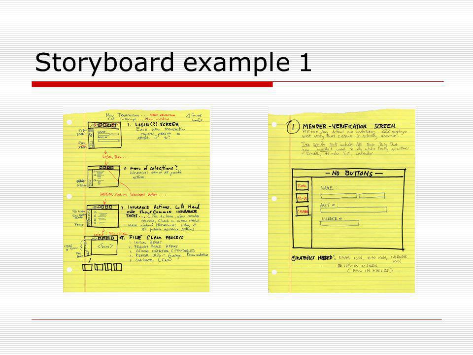 Storyboard example 1