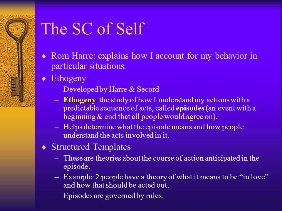 Concept of Self –Also important to Symbolic Interactionism.