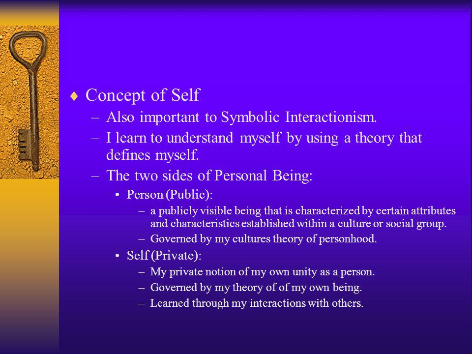 –The self consists of a set of elements that can be viewed spatially along three dimensions.