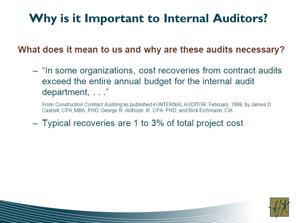 Why is it Important to Internal Auditors.
