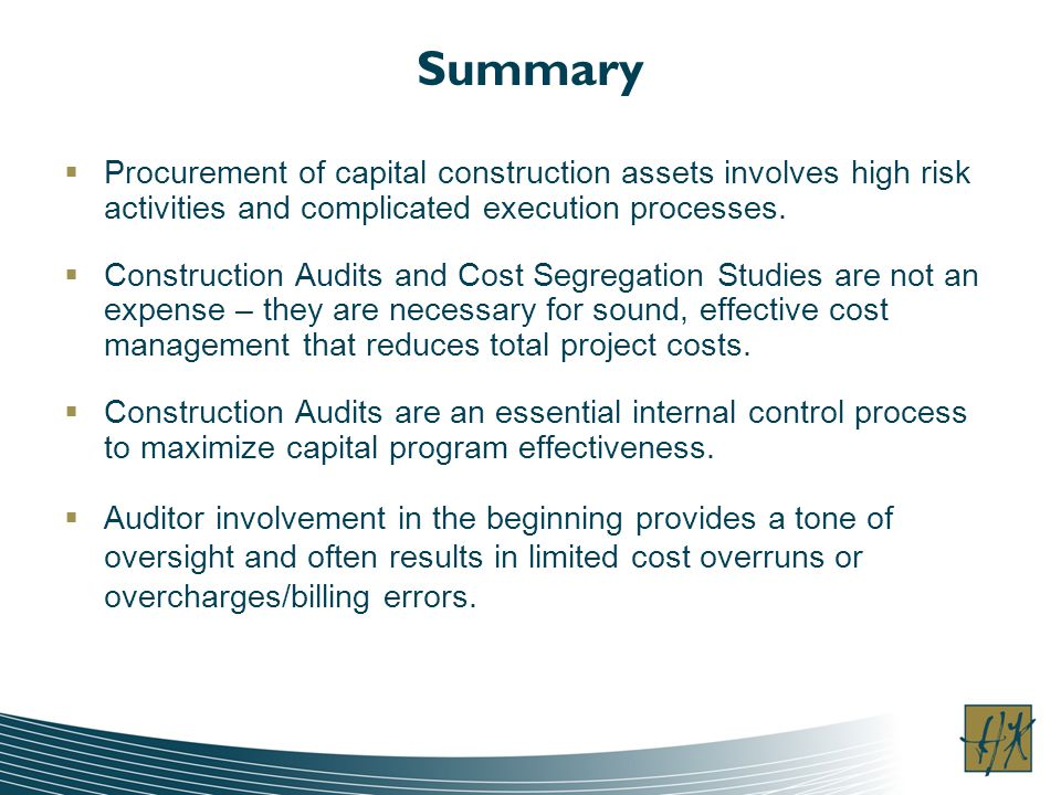 Summary Procurement of capital construction assets involves high risk activities and complicated execution processes.