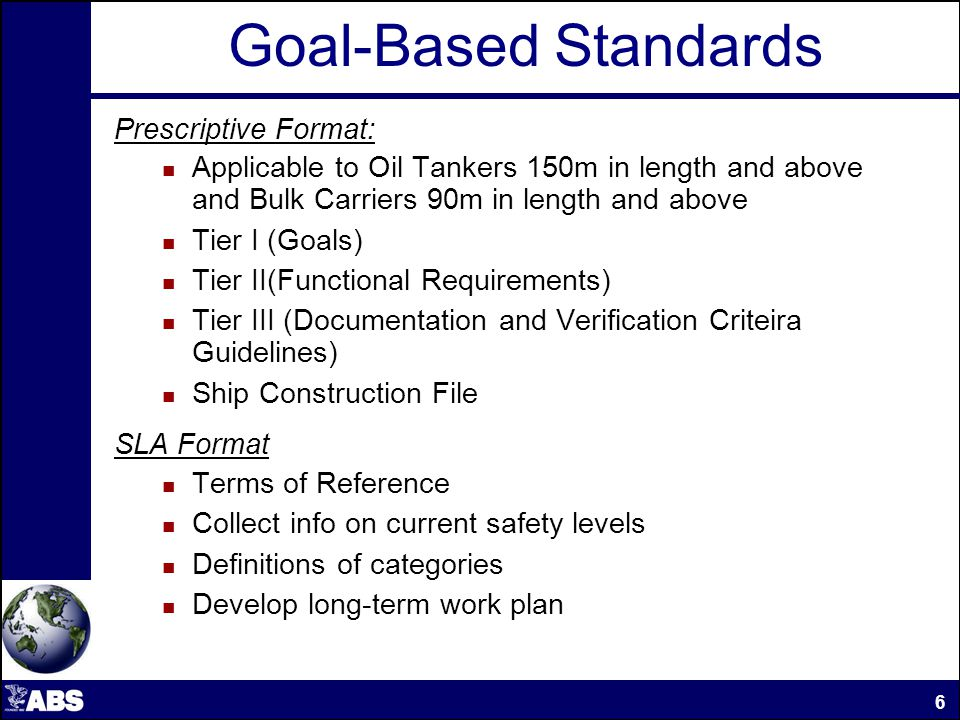 GBS Prescriptive Format IMO Documents Amendments to SOLAS Chapter II-1 making the GBS standards for bulk carriers and oil tankers mandatory [Adopted IMO Res.