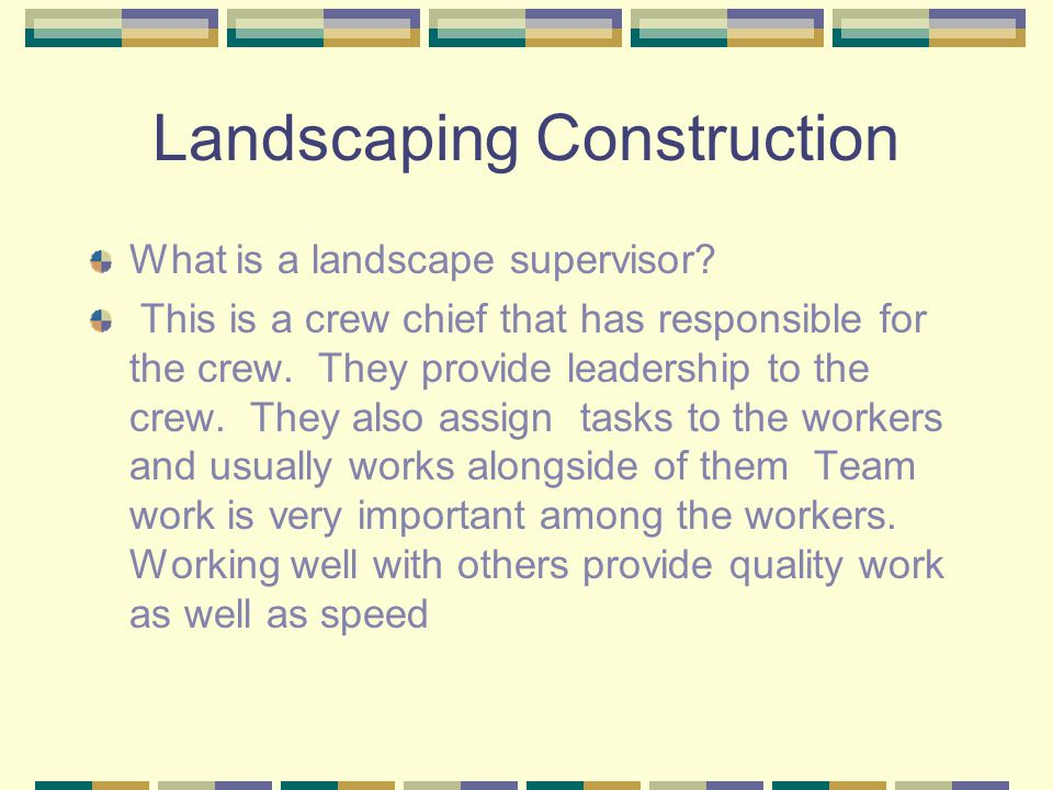 Landscaping Construction What is a Landscaping Contractor.
