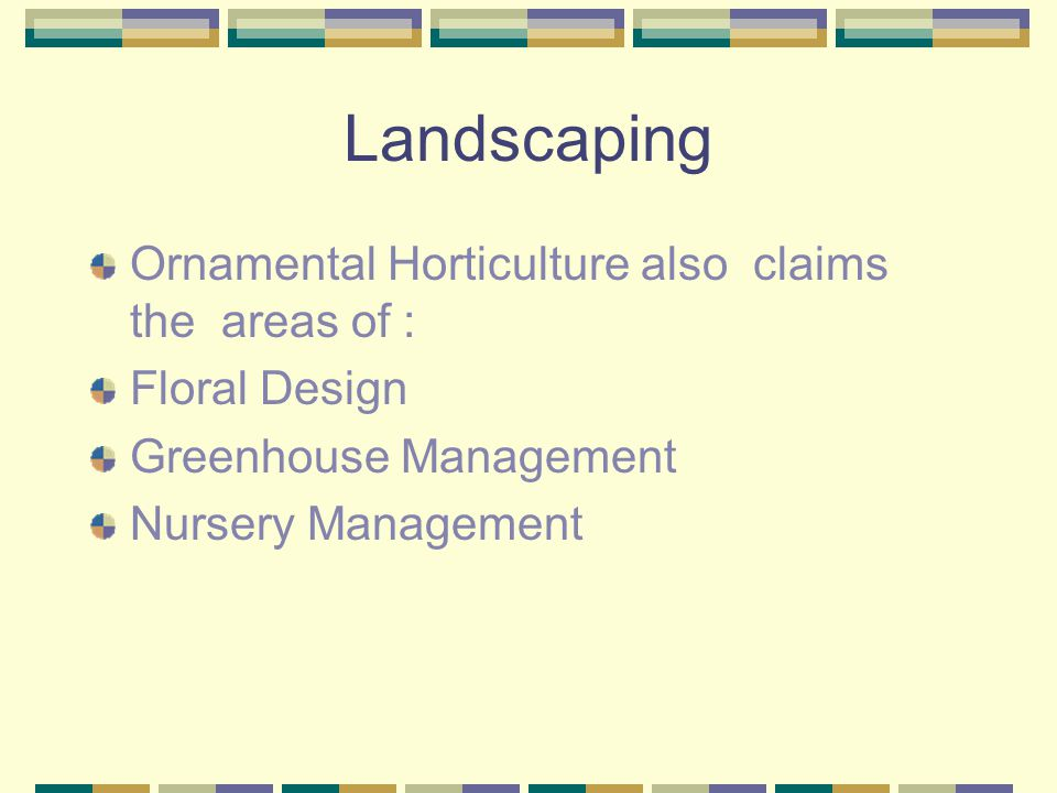 Landscaping What is Ornamental Horticulture.