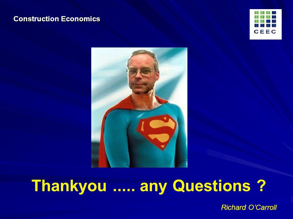 Richard OCarroll Thankyou..... any Questions Construction Economics