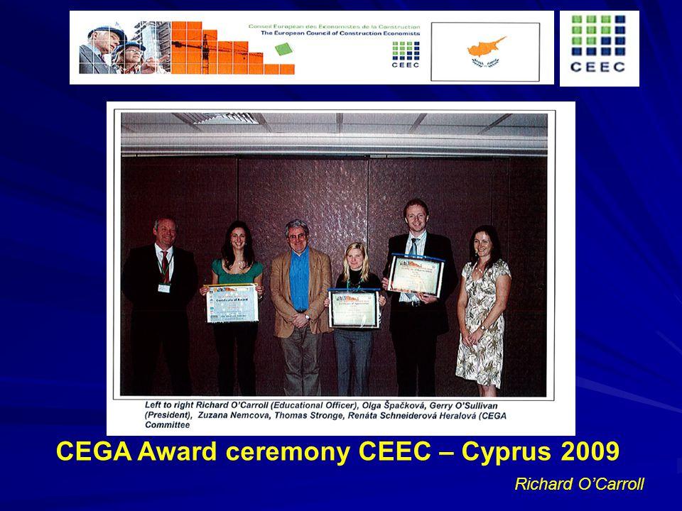 Richard OCarroll CEGA Award ceremony CEEC – Cyprus 2009