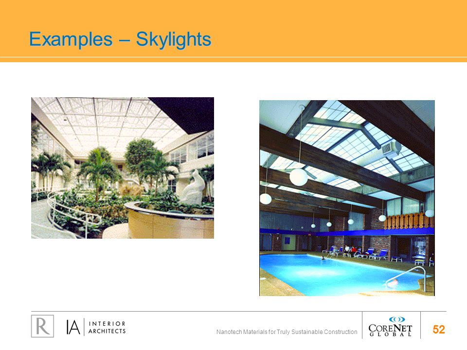 52 Nanotech Materials for Truly Sustainable Construction Examples – Skylights