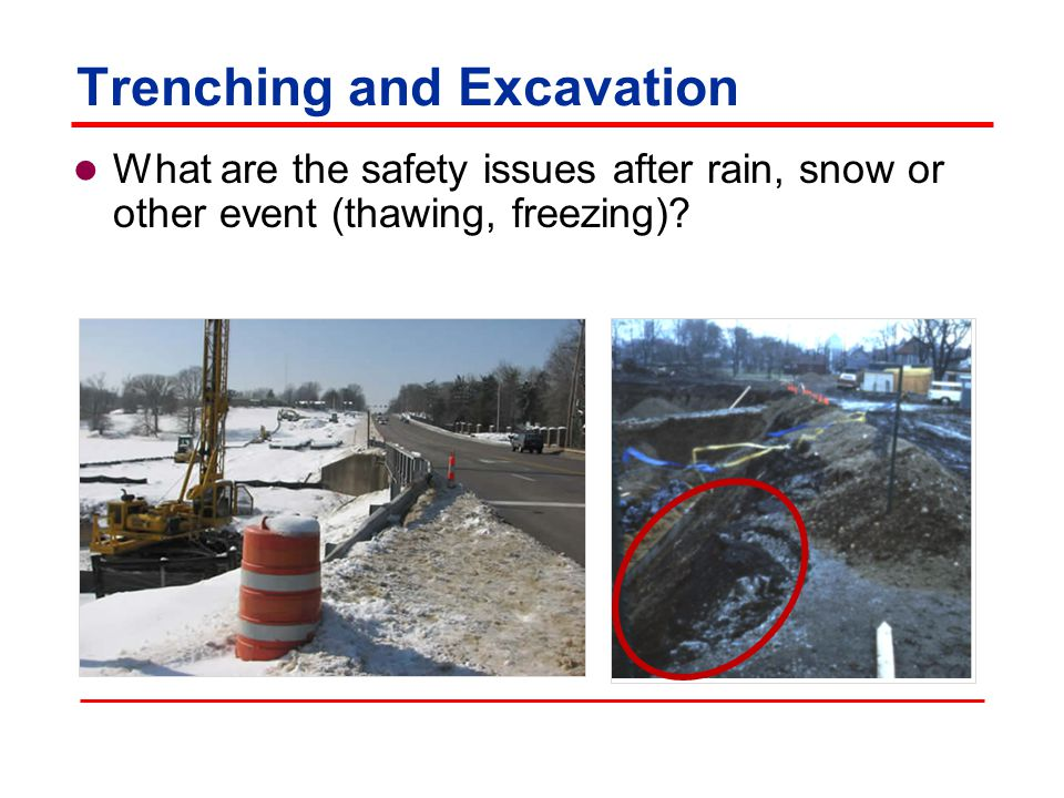 Trenching and Excavation What are the safety issues with nearby blasting?