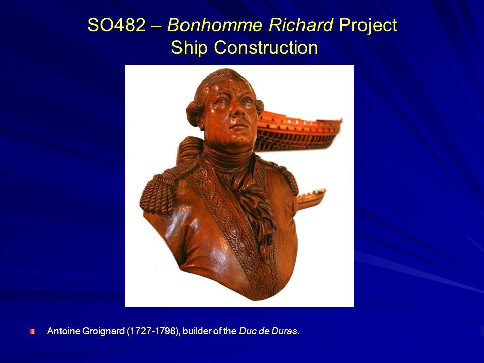 SO482 – Bonhomme Richard Project Ship Construction Antoine Groignard (1727-1798), builder of the Duc de Duras.