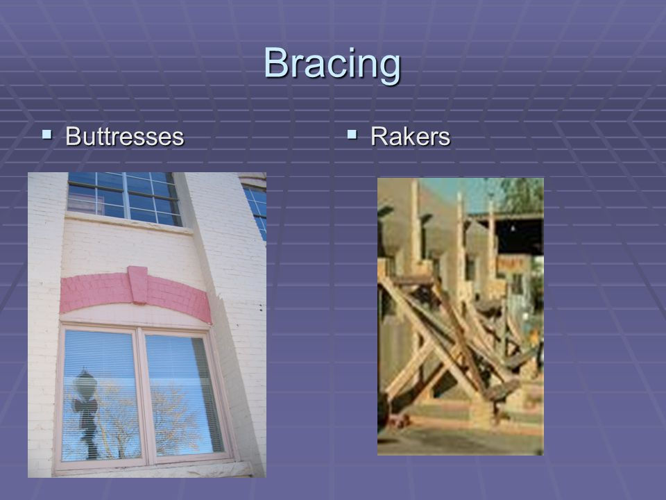 Bracing Buttresses Buttresses Rakers Rakers