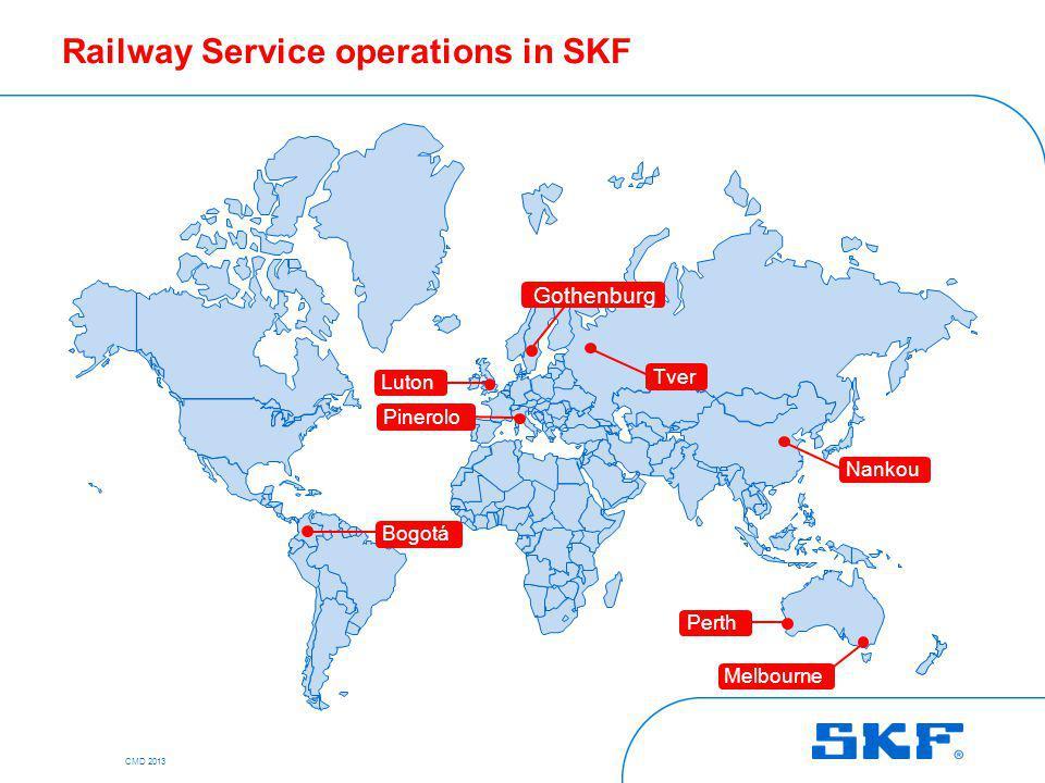 Railway Service operations in SKF Luton Pinerolo Gothenburg Tver Nankou Perth Melbourne Bogotá CMD 2013