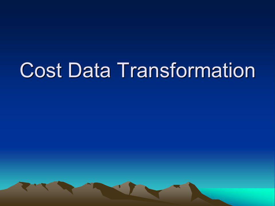 Cost Data Transformation