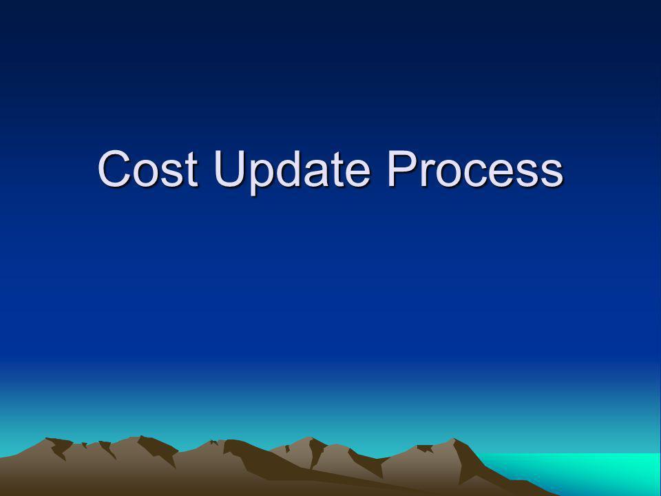 Cost Update Process