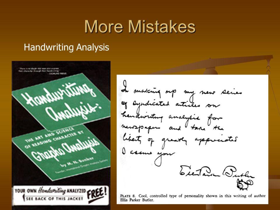 More Mistakes Handwriting Analysis