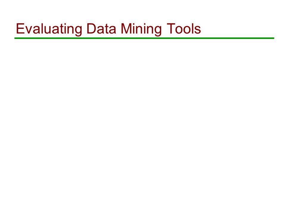 Evaluating Data Mining Tools