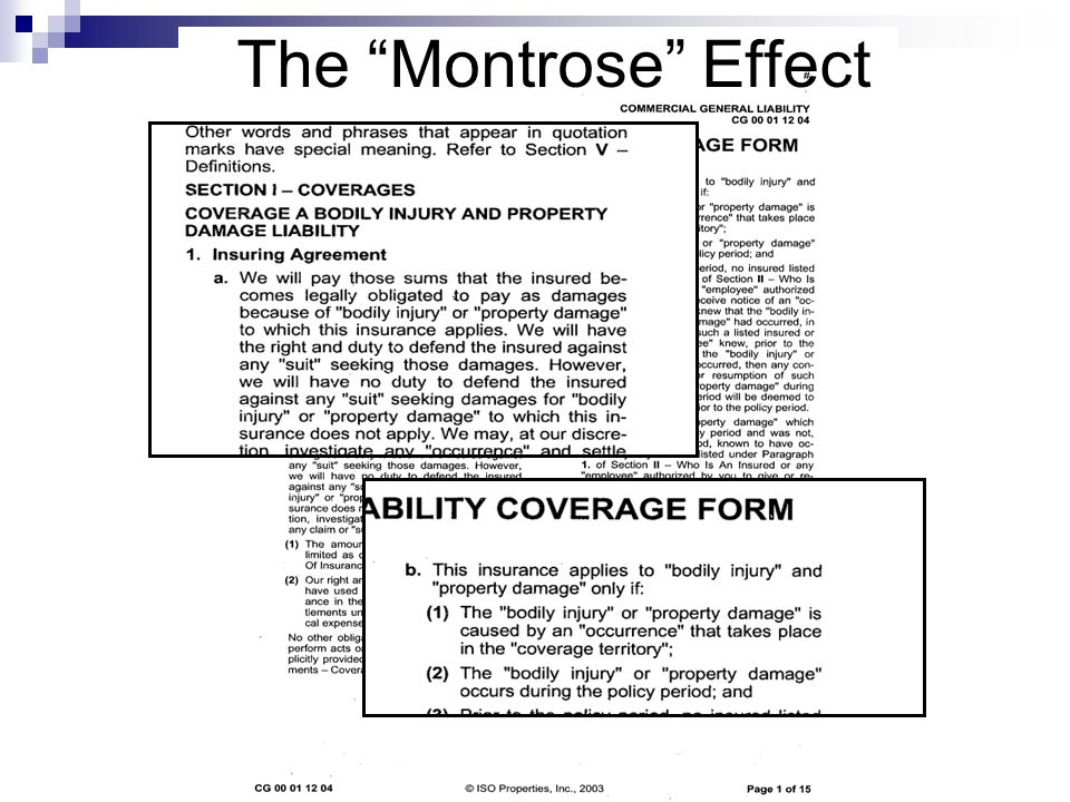 The Montrose Effect