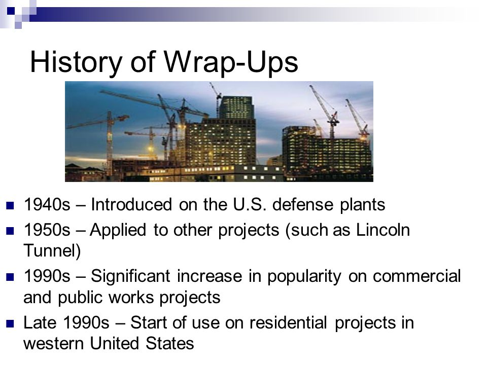 History of Wrap-Ups 1940s – Introduced on the U.S.