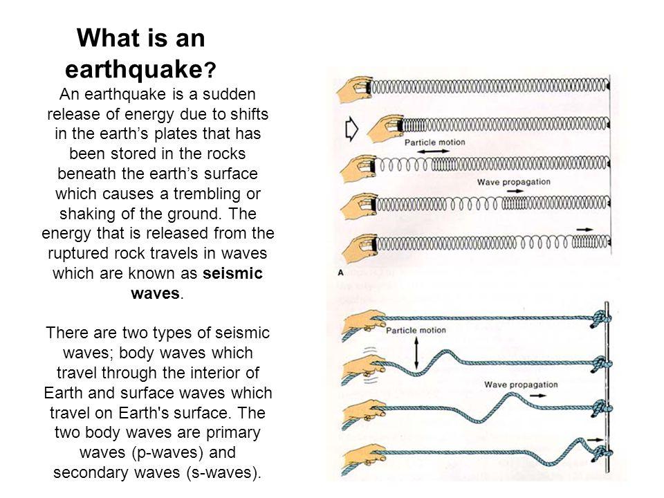What is an earthquake .