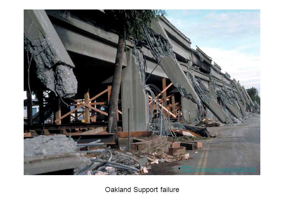 Oakland Support failure http:// pubs.usgs.gov/dds/dds-29 /http:// pubs.usgs.gov/dds/dds-29 /
