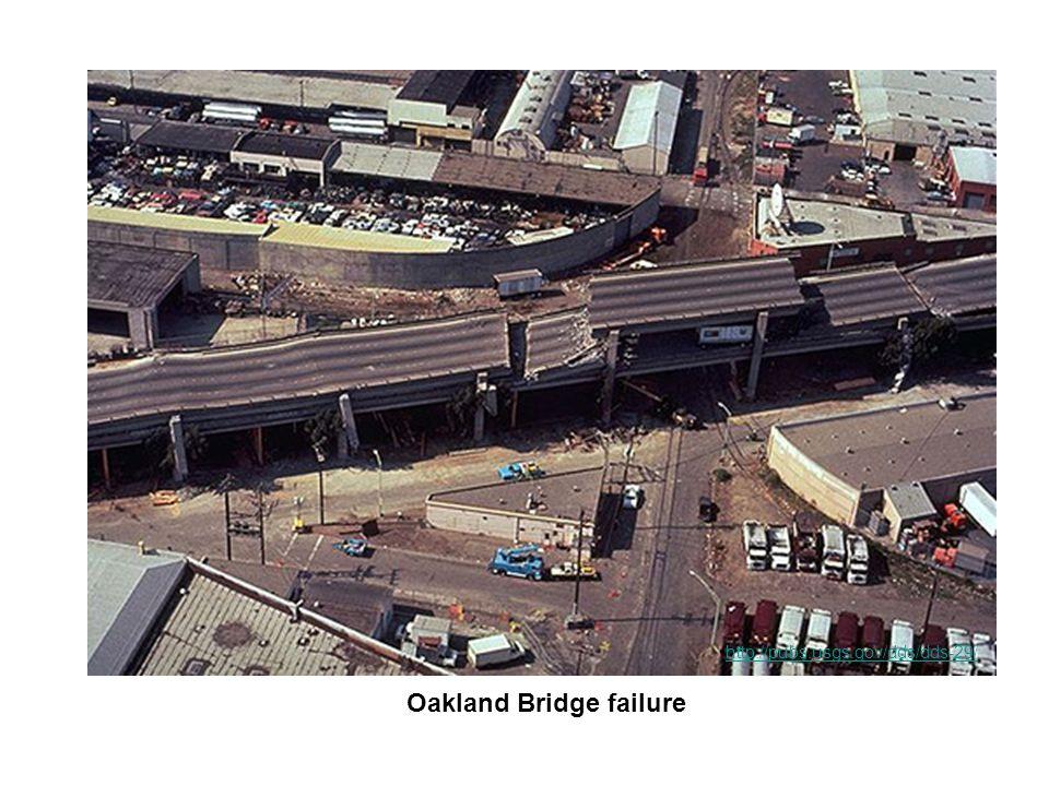 Oakland Bridge failure http://pubs.usgs.gov/dds/dds-29/