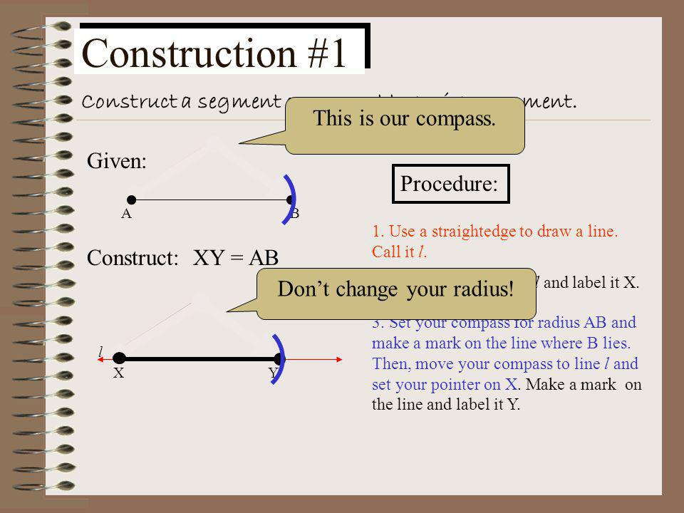 Construction #9 Given a point outside a circle, construct a tangent to the circle from the given point.