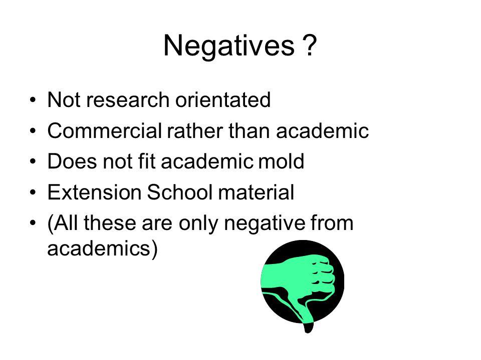Negatives .