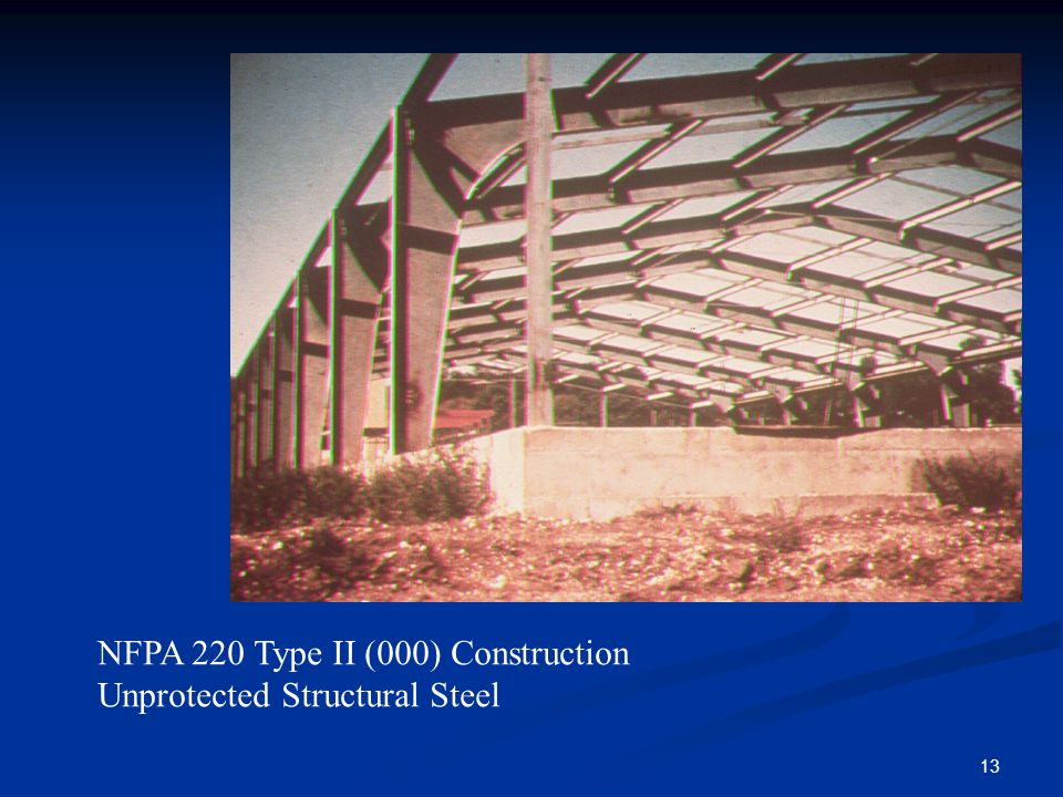 13 NFPA 220 Type II (000) Construction Unprotected Structural Steel