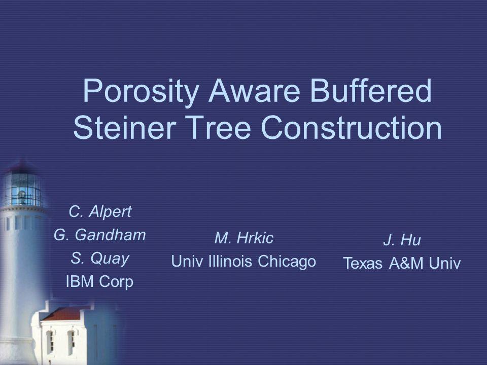 Porosity Aware Buffered Steiner Tree Construction C.