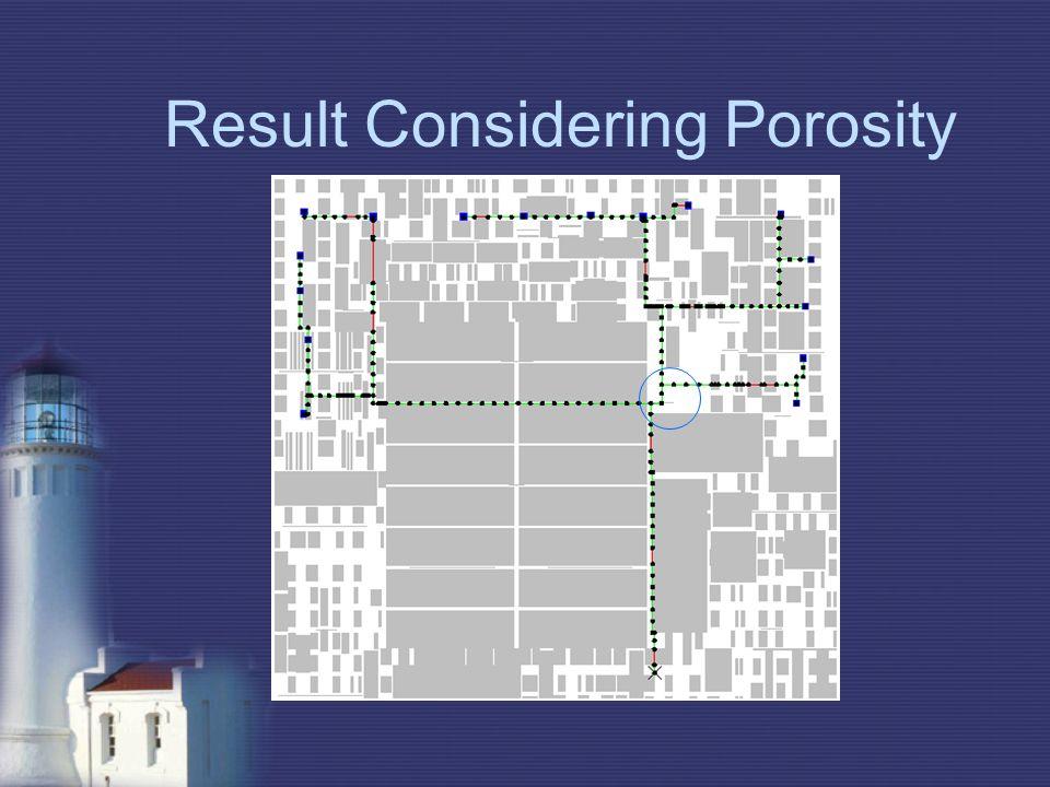 Result Considering Porosity