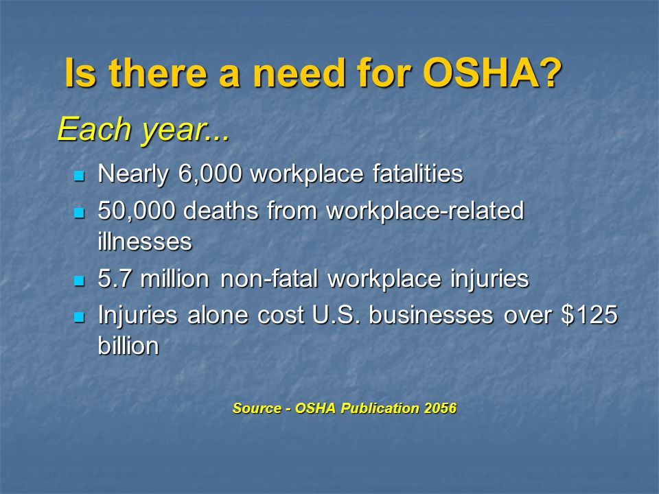 Has OSHA Made a Difference.