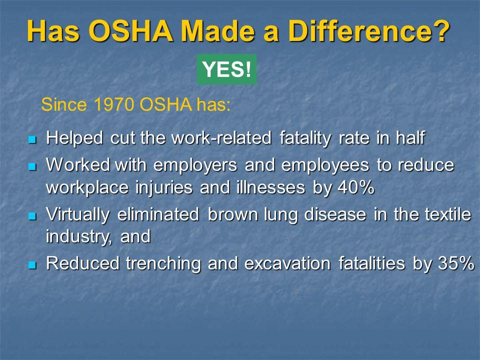 OSHA Web Site (www.osha.gov) About OSHA (events, whats new...) About OSHA (events, whats new...) Compliance Assistance (regulations, directives, consultation, eTools, training...) Compliance Assistance (regulations, directives, consultation, eTools, training...) Cooperative Programs (VPP, partnerships …) Cooperative Programs (VPP, partnerships …) News Room (publications, news releases...) News Room (publications, news releases...) Safety / Health Topics (technical links to various topics) Safety / Health Topics (technical links to various topics) Statistics (Inspection data, BLS survey link...) Statistics (Inspection data, BLS survey link...)