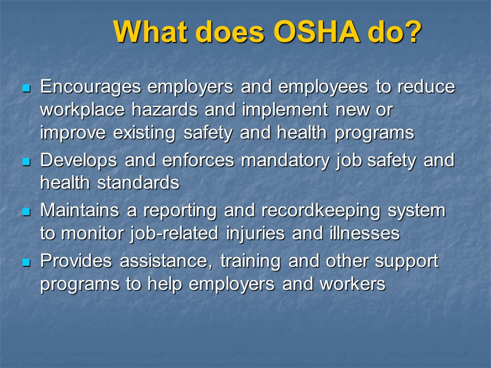 Where to Get OSHA Standards Federal Register in public libraries or at GPO web site Federal Register in public libraries or at GPO web site CD-ROM subscription through U.S.