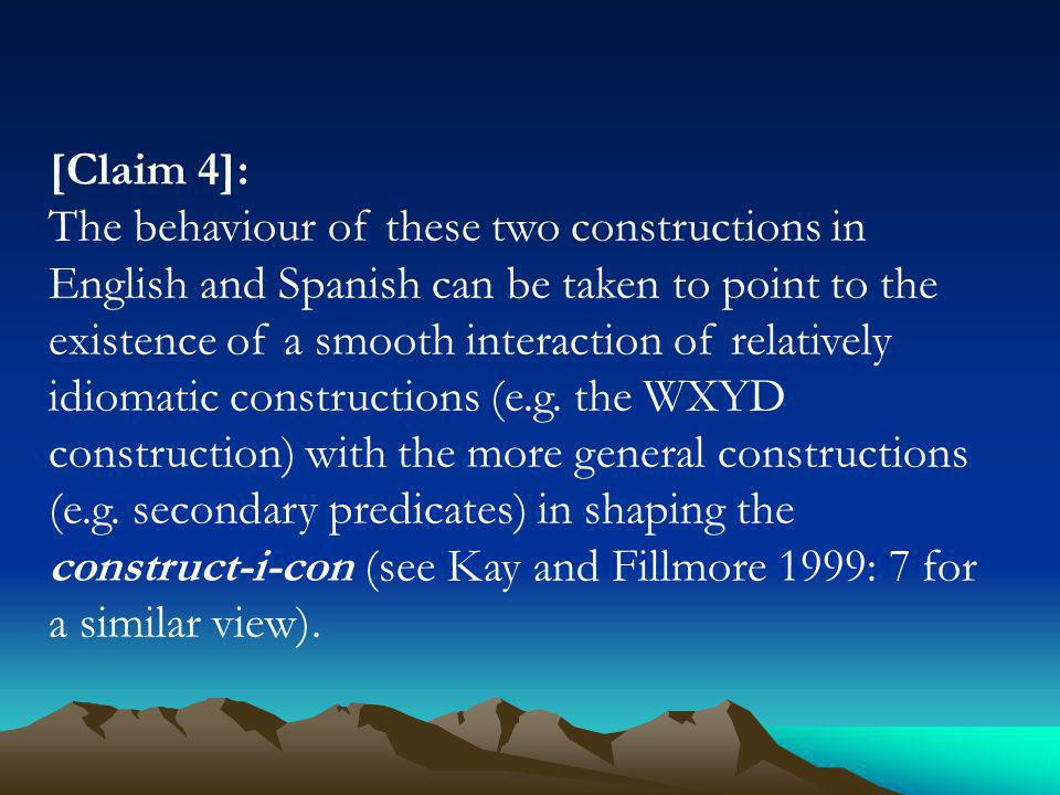 2.The WXYD construction in English and Spanish (4) (a) Whats this fly doing in my soup.