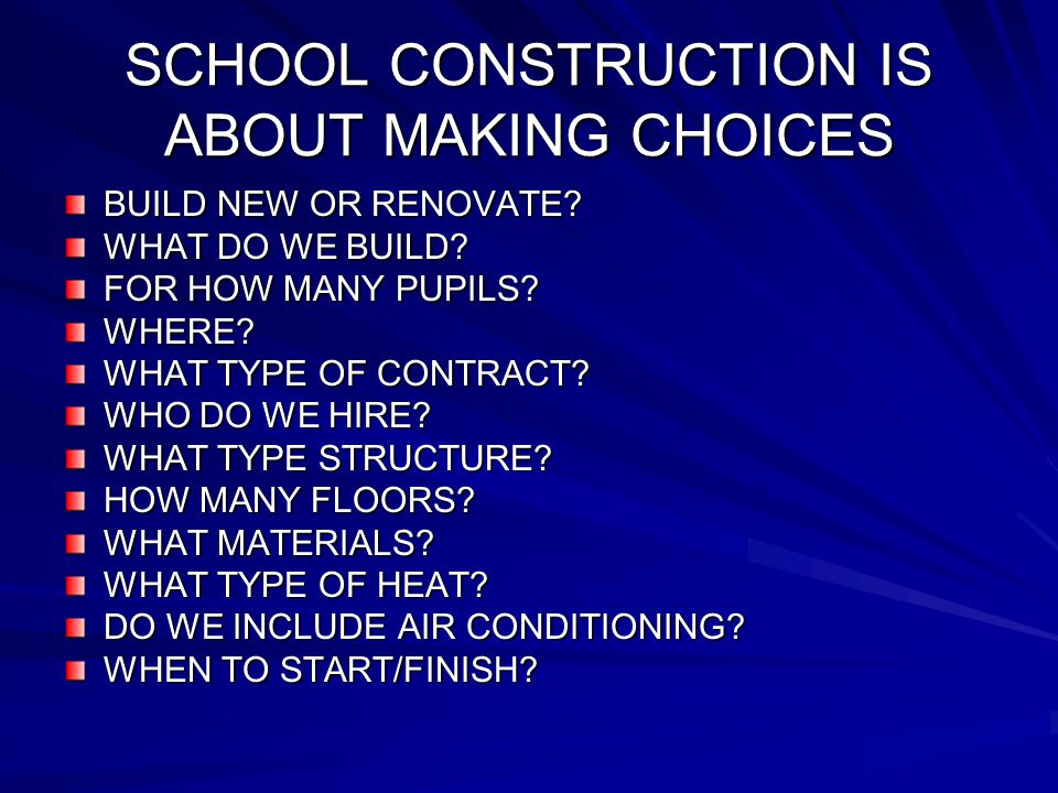 ELIGIBILITY FOR SCHOOL BUILDING AID SUBSTANTIAL RENOVATIONS: CRITERIA ARE IN ED 321.27 PROJECT MUST COST AT LEAST 25% OF THE COST TO REPLACE THE BUILDING 60% RULE MULTI-YEAR PROJECTS ARE ALLOWED
