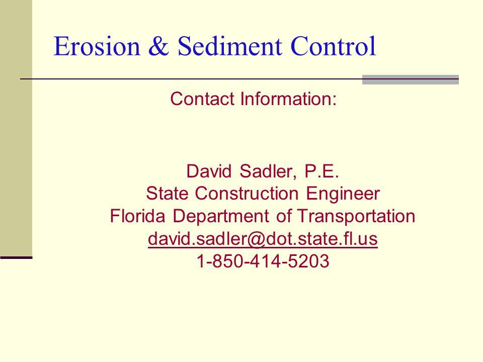 Contact Information: David Sadler, P.E.